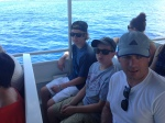 The boat ride out to the submarine.