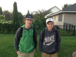 First day of school for Michael  (Junior) & Jeffrey (8th) grade.