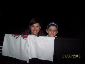 Waiting to meet the Wild players after a Wild vs Blackhawks game 2013.